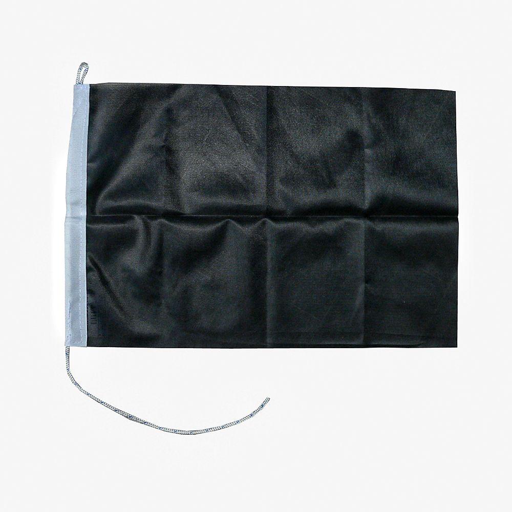 Zwarte vlag 30x45cm zwart