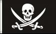 Piratenvlag Jack Rackham XXL 150x240cm Vlaggenclub