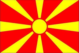 Mcedonische vlag 100x150cm | vlag republiek Macedonie kopen bij Vlaggenclub