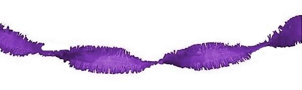 guirlande brandveilig crepe paars 24 meter