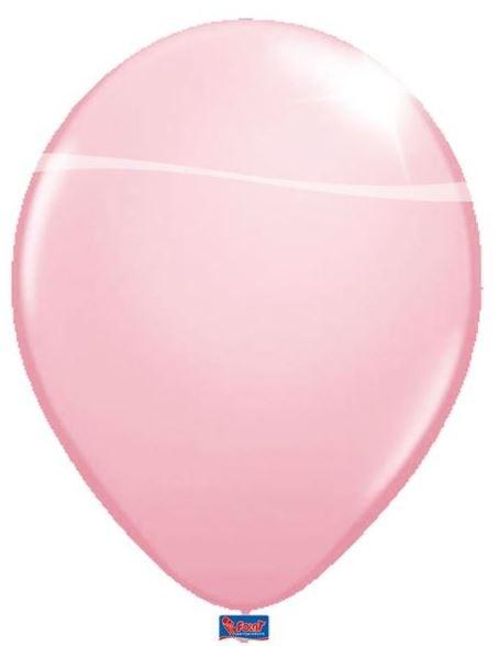 ballon lichtroze, roze, babyroze, metallic, ballonnen, 30cm groot 12 inch