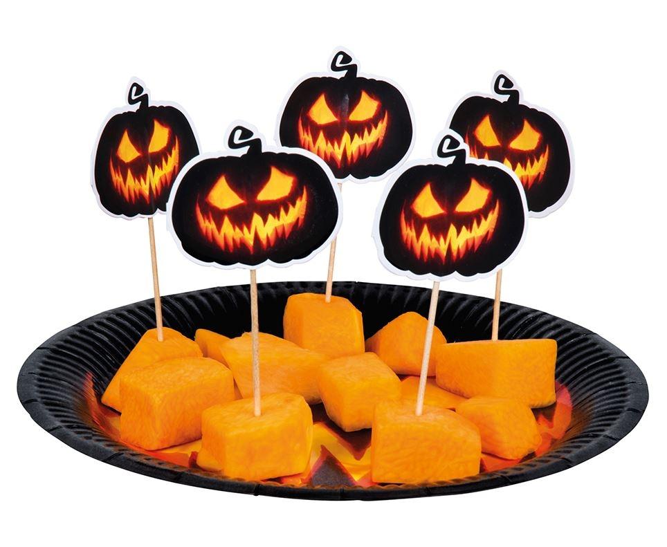 cocktailprikkers pompoen halloween pumpkin