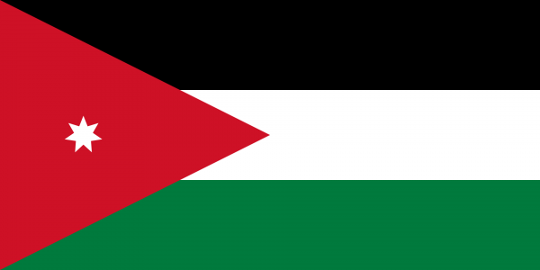 Vlag Jordanie 100x150cm Glanspoly