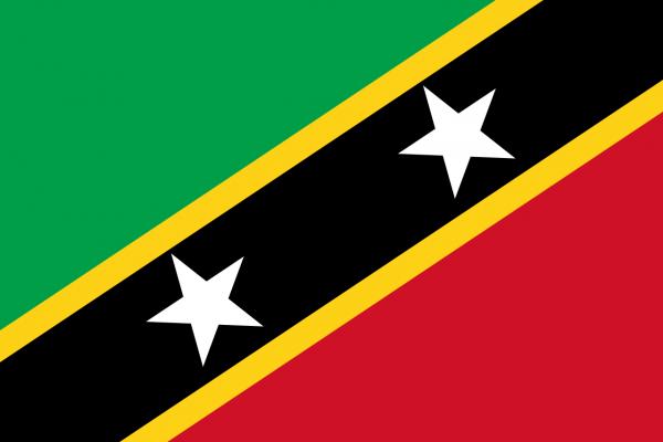 Vlag Saint Kitts en Nevis 100x150cm Glanspoly