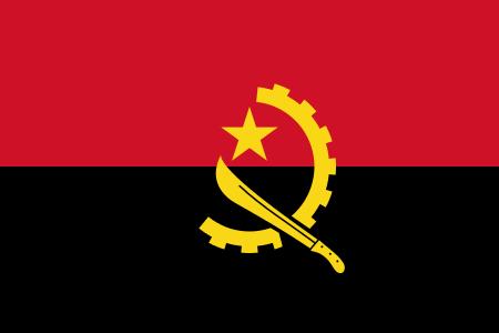 Tafelvlaggen Angola 10x15cm | Angolaanse tafelvlag