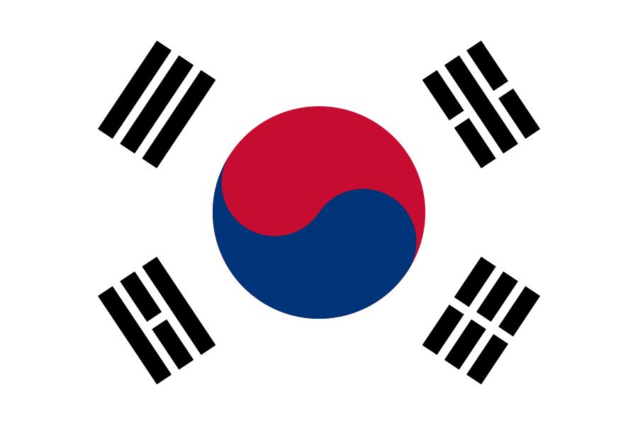 Zuid Koreaanse zwaaivlaggen | zwaaivlag Zuid Korea 30x45cm