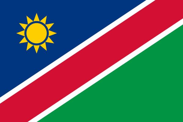 Tafelvlaggen Namibië 10x15cm | Namibische tafelvlag