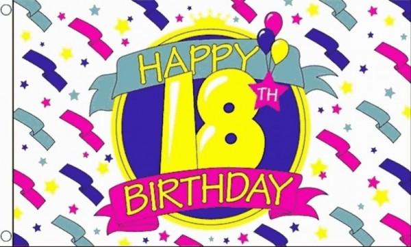 Vlag 18e verjaardag 90x150cm bes value