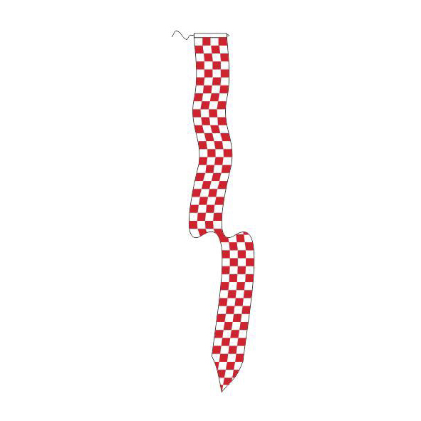 Wimpel Brabants Bont 25x300cm met koord en lus