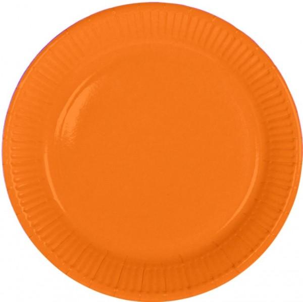 Borden Oranje kartonnen bordjes 8 stuks