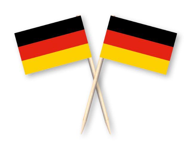 Cocktailprikkers met Duitse vlag, Duitsland Kaasprikkers, 50 stuks