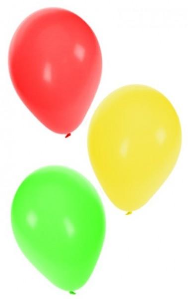 Ballonnen Carnaval Limburg rood geel groen 36 stuks