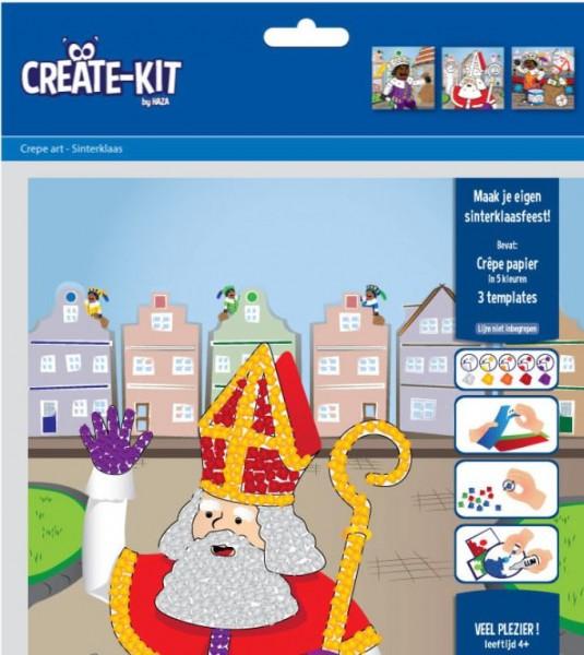 Crepe art creatie-kit thema Sinterklaas