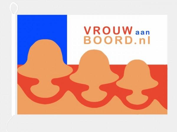 vlag VrouwAanBoord grote VAB vlag 100x150cm