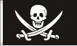 Piratenvlag Jack Rackham groot 60x90cm vlaggenclub