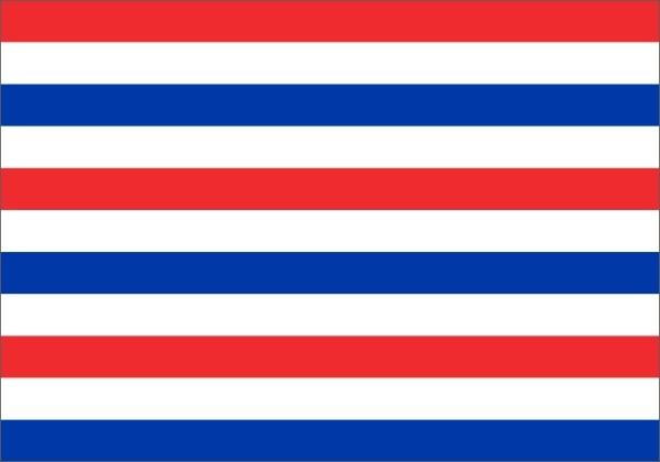 Prinsenvlag variant met de kleuren van de huidige Nederlandse vlag