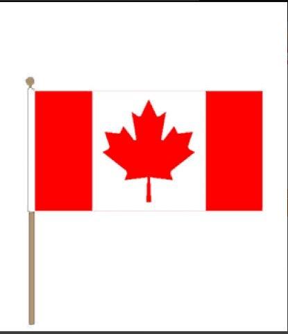 zwaaivlag Canada 15x22,5cm met stoklengte van 30cm