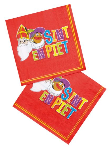 Servetten Sinterklaas 12 stuks