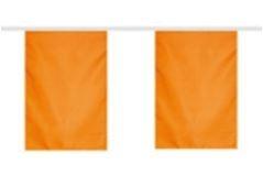 Vlaggenlijn Oranje 10 meter polyester 2 vlaggen