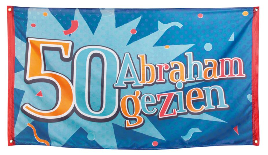 Vlag 50 Abraham gezien 90x150cm