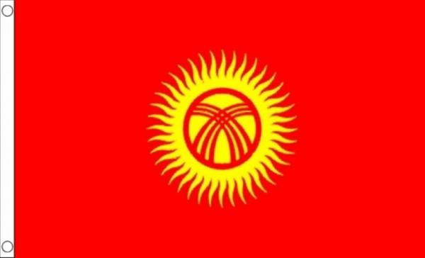 Vlag Kirgizië Kirgizische vlaggen 90x150cm Best Value