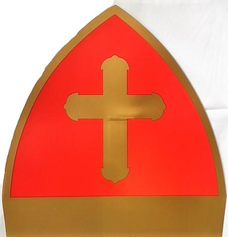 Kartonnen mijter van Sinterklaas, plano