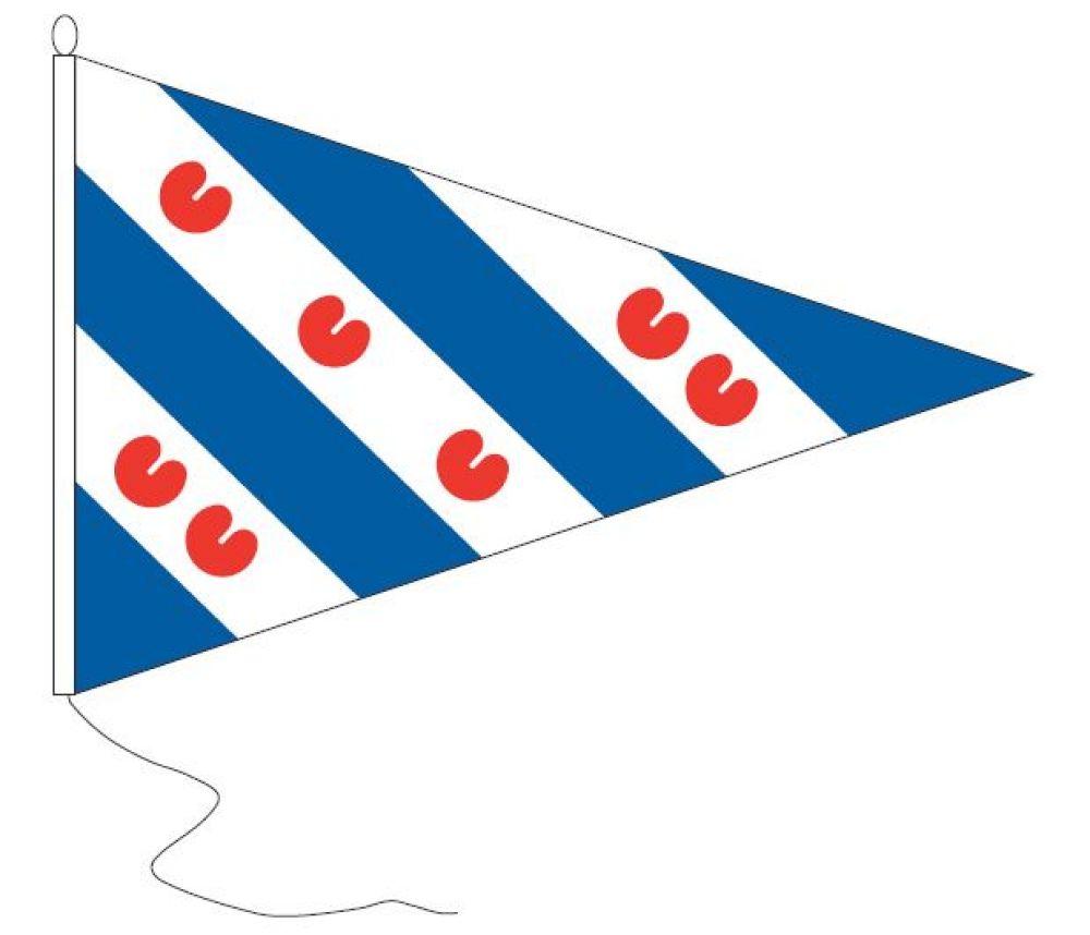 Puntvlag wimpel Friesland 30x45cm geusje