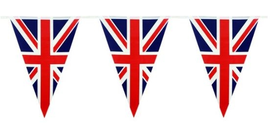 Vlaggenlijn Verenigd Koninkrijk 10m plastic