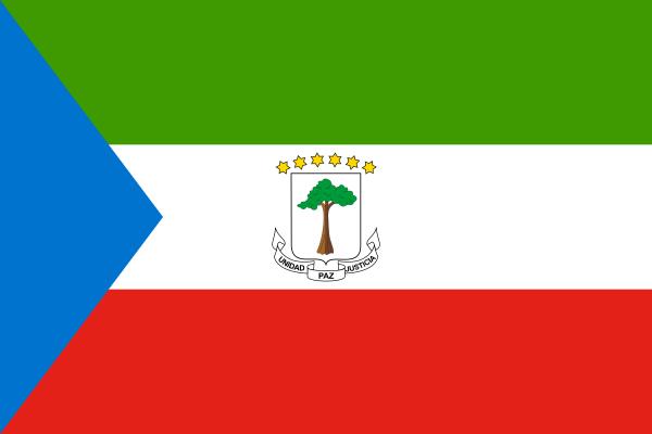 Tafelvlaggen Equatoriaal-Guinea 10x15cm | Equatoriaal-Guinea tafelvlag