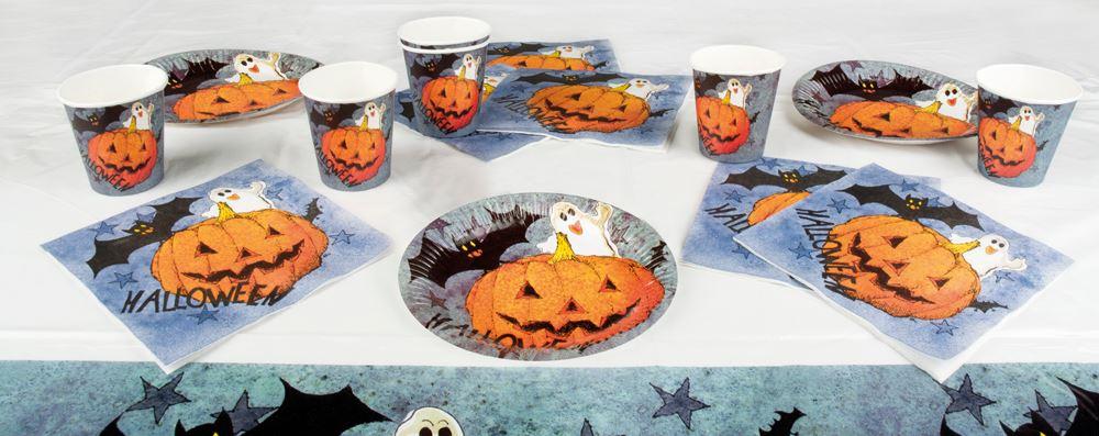 Tafelset Halloween karton 6 stuks