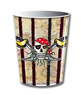 8 Bekers red Pirate