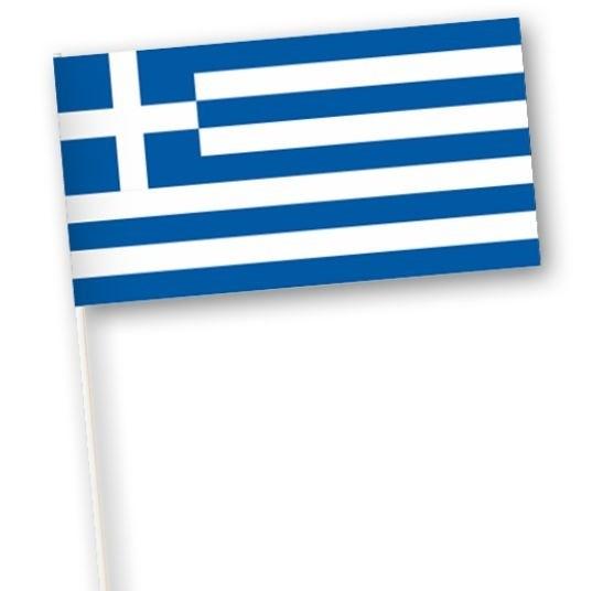 zwaaivlaggetje Griekenland 11x21cm, stonklengte 40