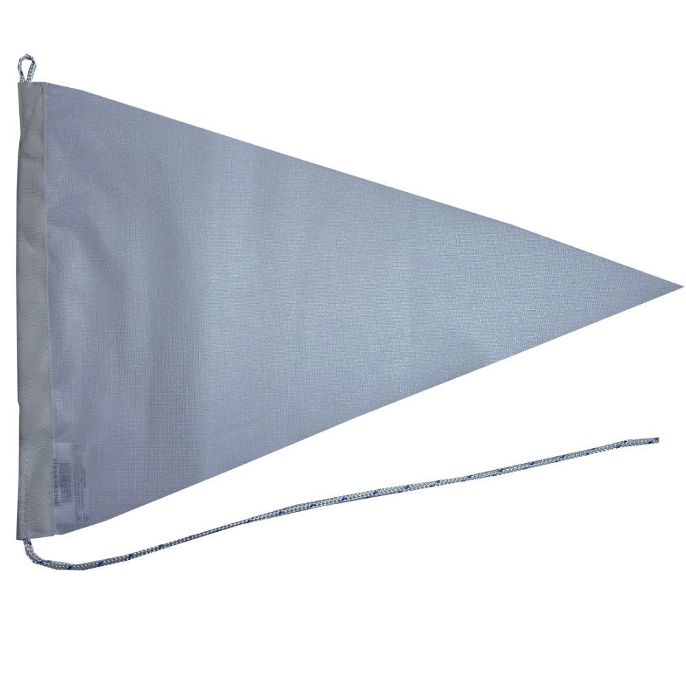 Witte blanco wimpel puntvlag 50x75cm