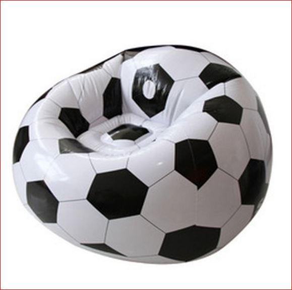 Voetbal stoel opblaasbaar luxe XXL