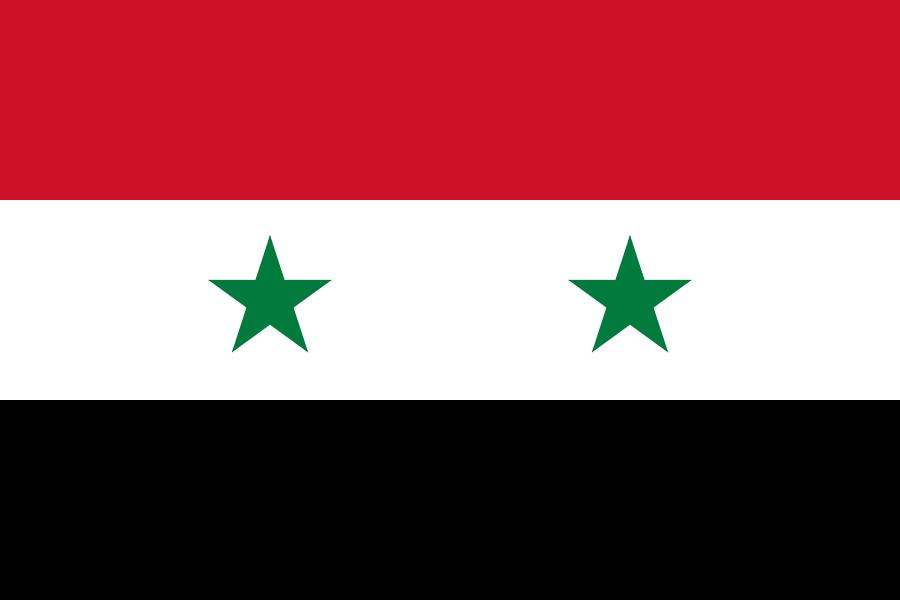 tafelvlaggen Syrië 10x15cm | Syrische tafelvlag