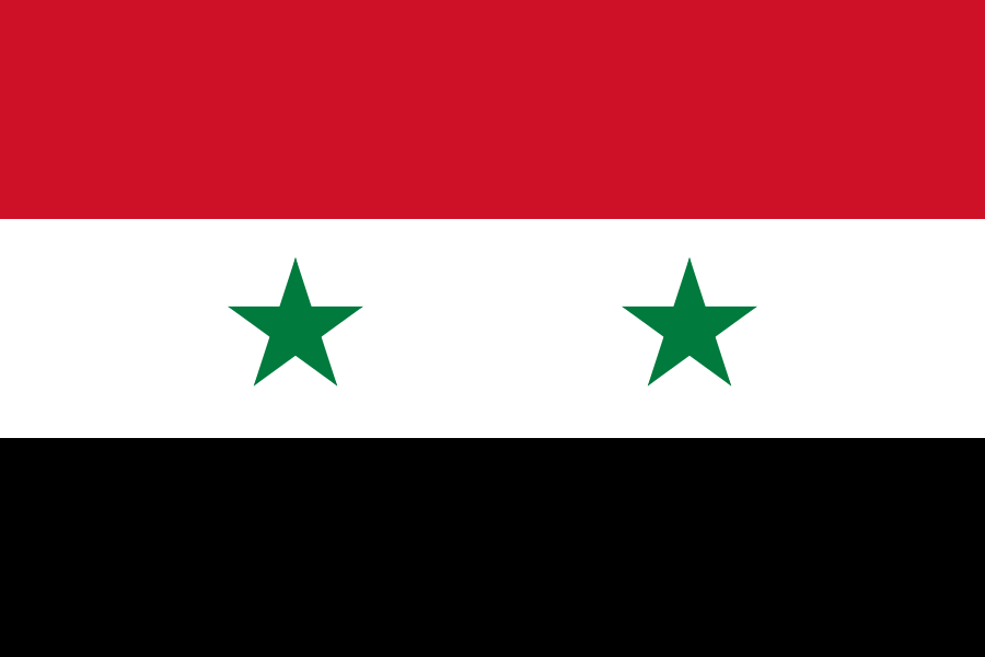 Tafelvlaggen Syrië | Syrisch tafel vlaggetje 10x15cm kopen bij Vlaggenclub