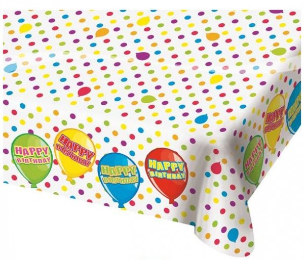 Tafelkleed Happy Birthday Ballonnen 130x180cm