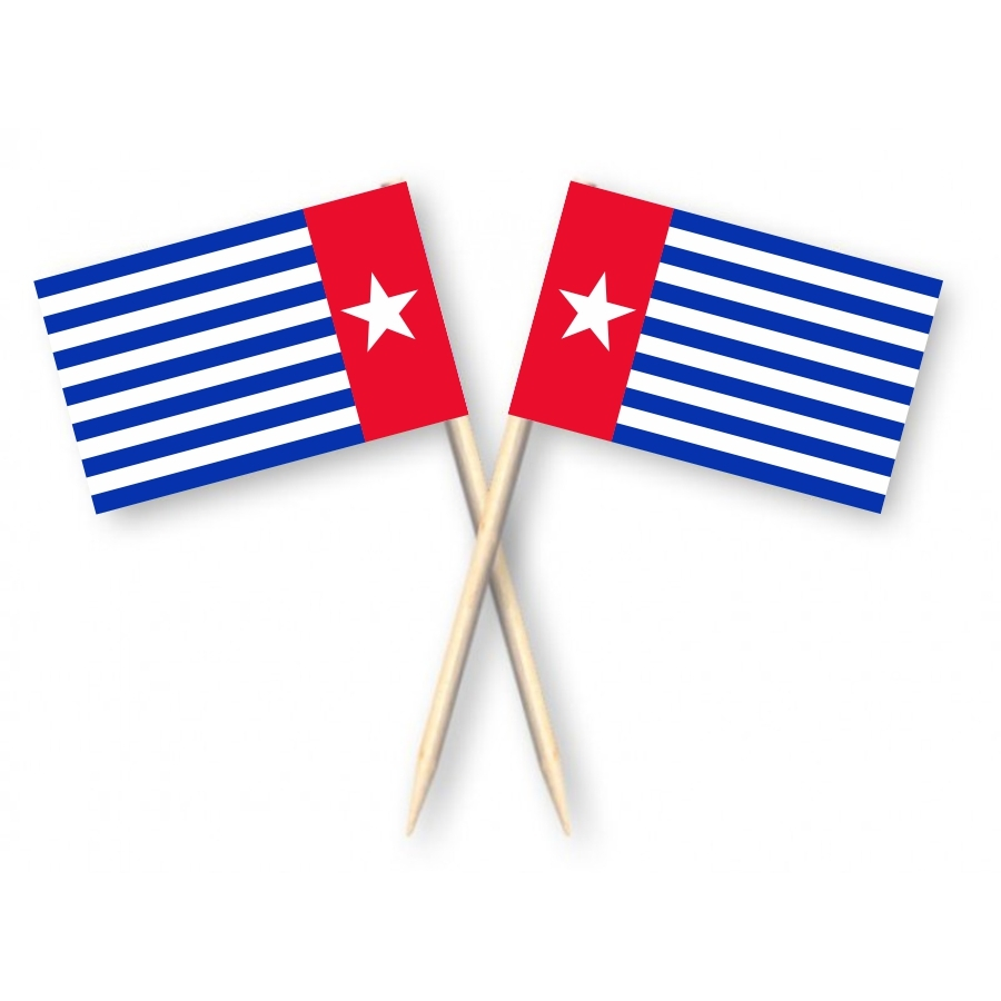Cocktailprikkers West Papua, Kaasprikkers Papoea Morgenster, 50 stuks
