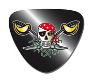 Red  Pirate ooglapjes 8 stuks Vlaggenclub