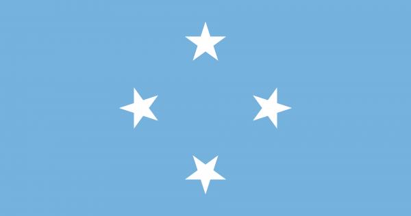 Tafelvlag Micronesia met standaard