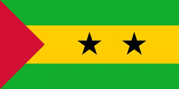Tafelvlaggen Sao Tomé en Principe 10x15cm | Santomese tafelvlag