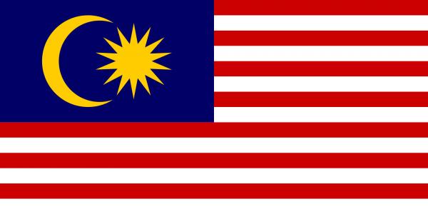 Maleisische vlag | vlaggen Maleisië 100x150cm gevelvlag