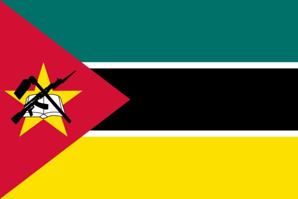 Tafelvlaggen Mozambique 10x15cm | Mozambicaanse tafelvlag
