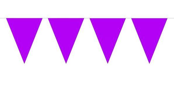 Vlaggenlijn paars, donker paars wimpellijn 10m
