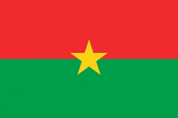 Tafelvlag Burkina Faso met standaard