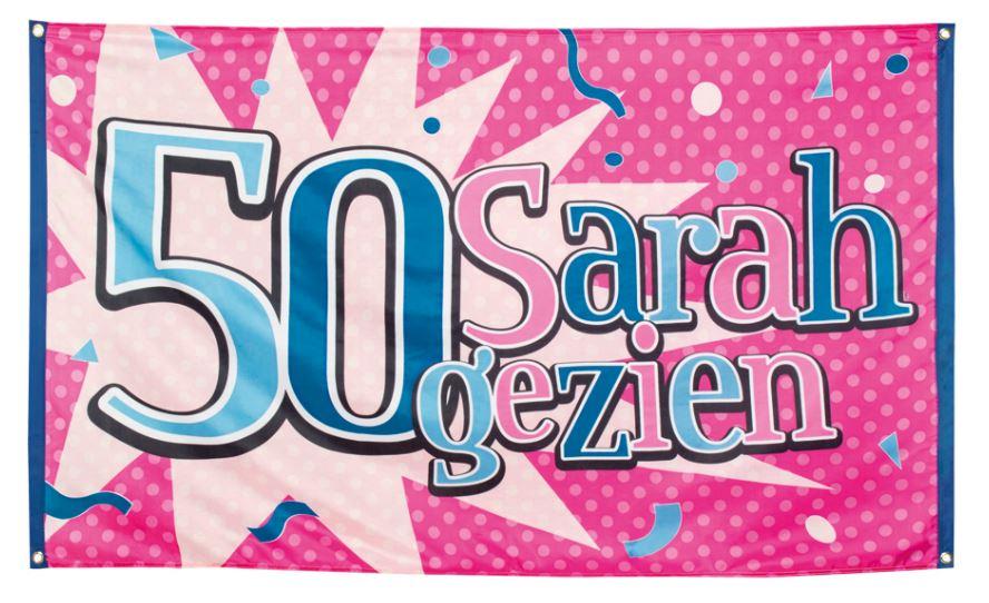 Vlag 50 Sarah gezien 90x150cm