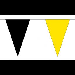Vlaggenlijn plastic Geel/Zwart 20m topkwaliteit vlaggen lijn