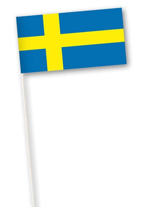 Zweedse zwaaivlag Zweden 11x21cm