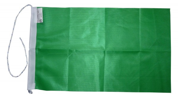Groene vlag rechthoekig 70x100cm Racevlag einde gevaar