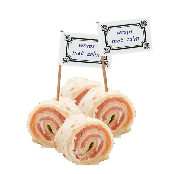 voorbeeld etiket kaasprikkers en partyprikkers